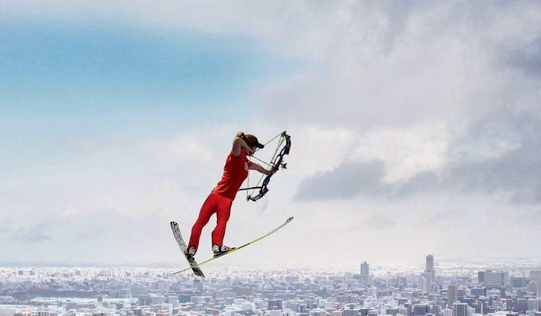 Skytte, skidor och korv